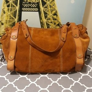 Lucky Brand Vintage inspired suede bag